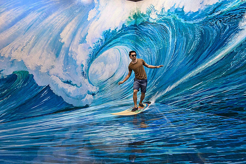 You can also ride the waves at this interactive art gallery