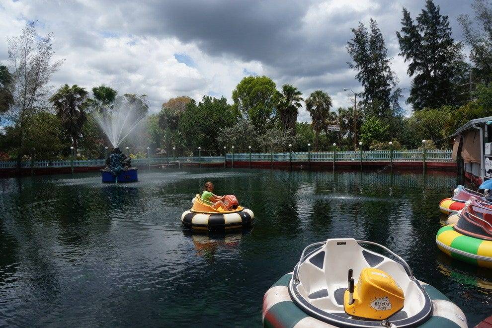 Bumper boats make for some crashing good fun at The Shell Factory