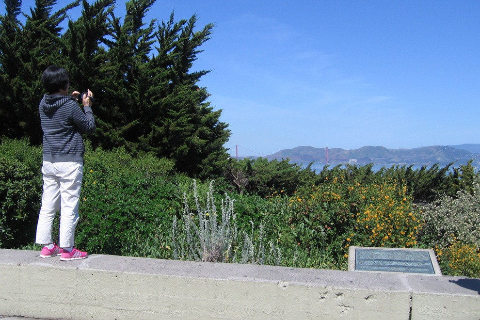 Visitor captures just one of the stunning views from the Coit Tower area.