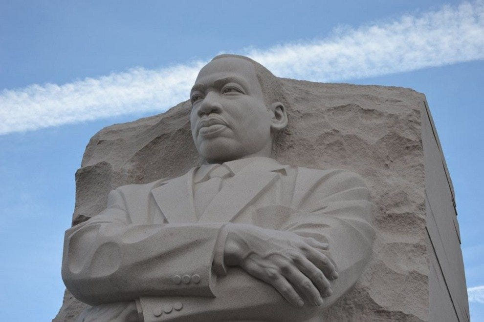 End your bike tour with a visit to the Martin Luther King, Jr. Memorial