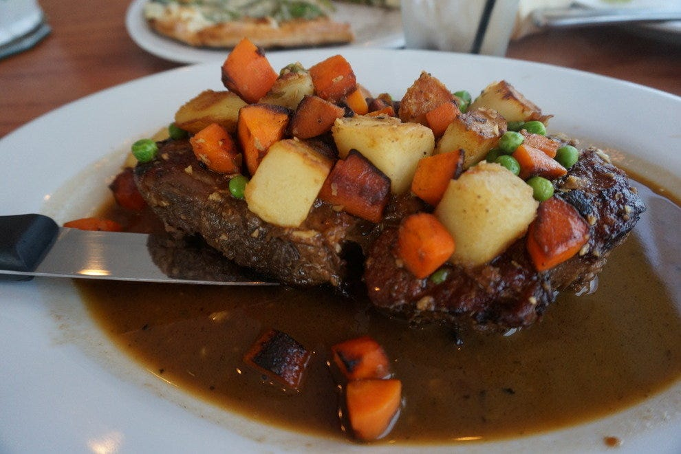 Besides great seafood, the Island View turns out delicious comfort food like this prime rib