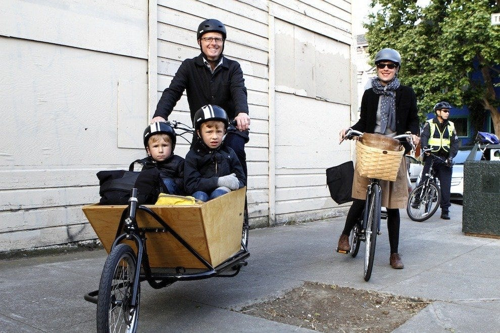 Biking is all in the family in San Francisco