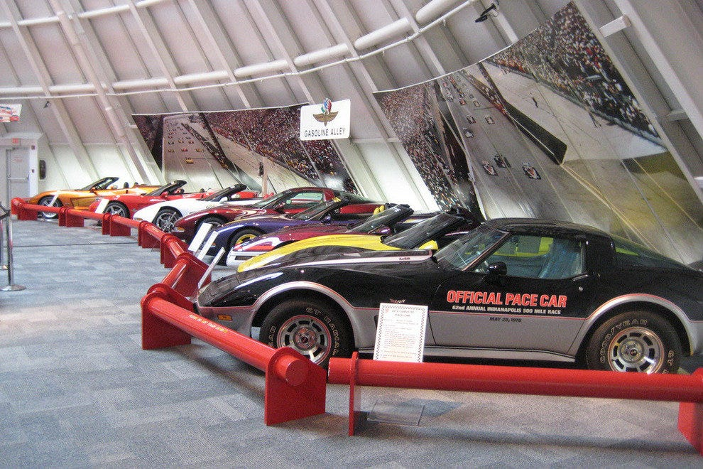 """Pace Car Alley"" at the National Corvette Museum"