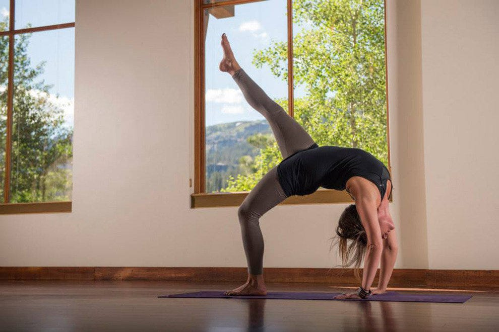 Backbends are easier in the higher altitudes