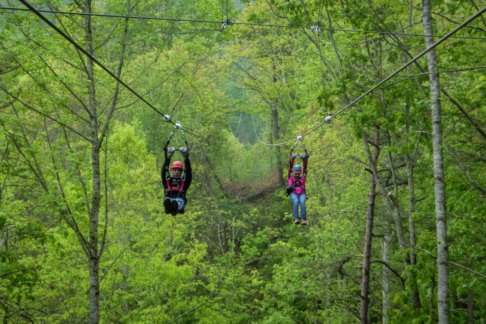 The New Racing Style Zipline At Navitat Canopy Adventures Photo Courtesy Of