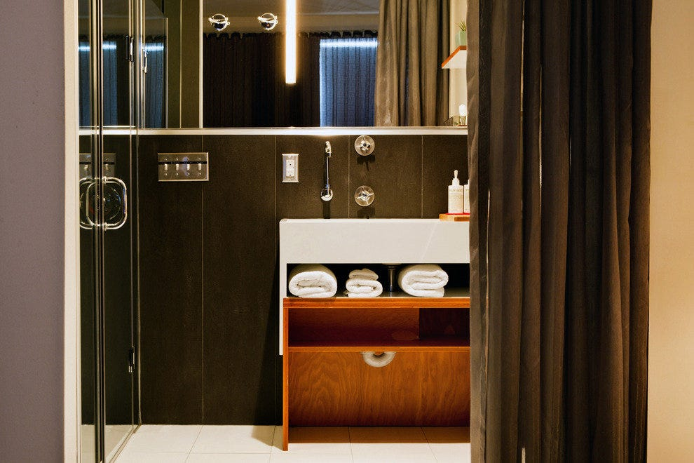 A bathroom in one of The Drake Hotel's suites
