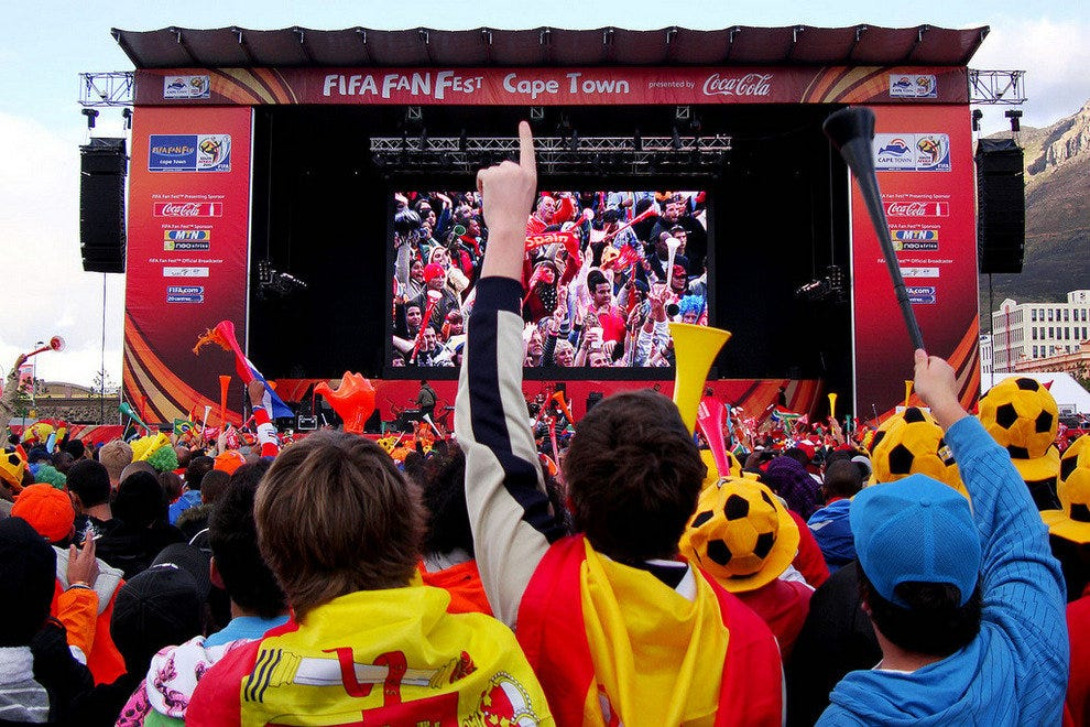 A Fan Fest in Capetown for the previous World Cup