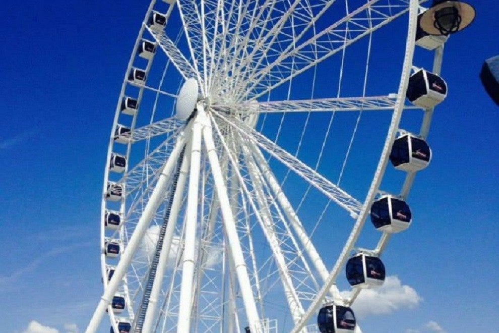 At 180 feet tall, the Capital Wheel offers spectacular views of D.C.