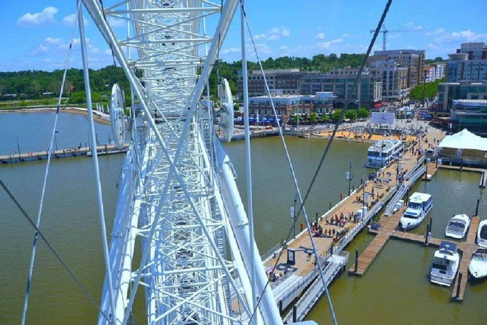 The waterfront looks even more amazing from a gondola on the Capital Wheel