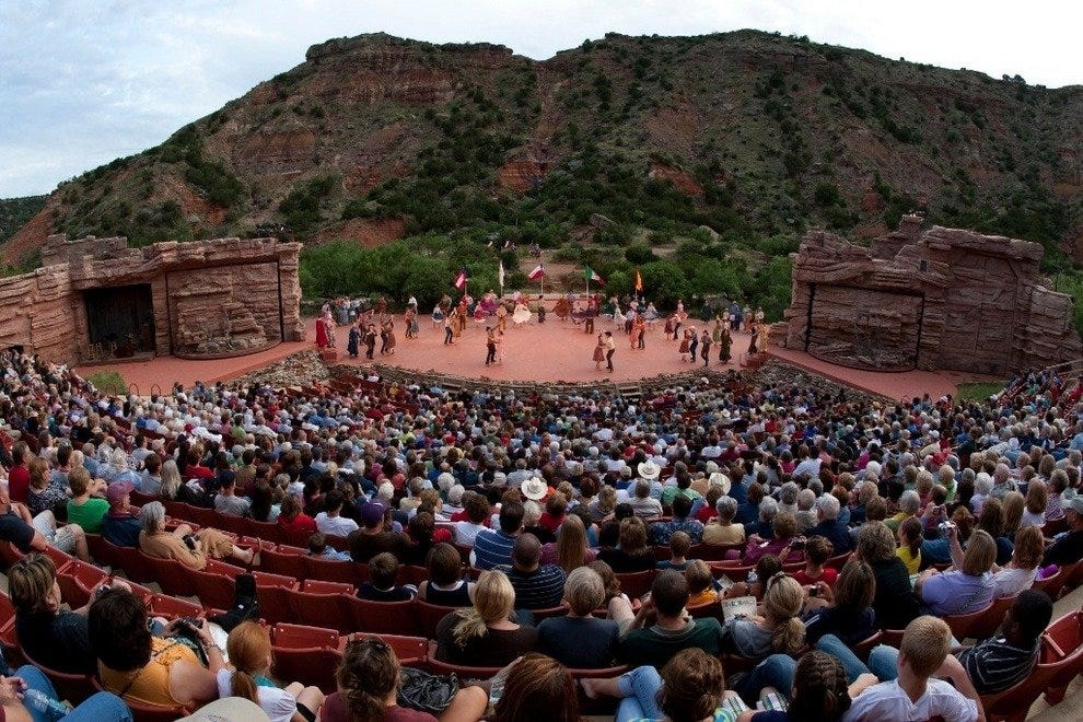 Texas, a big show to fit a big state takes place in the Palo Duro Canyon through August