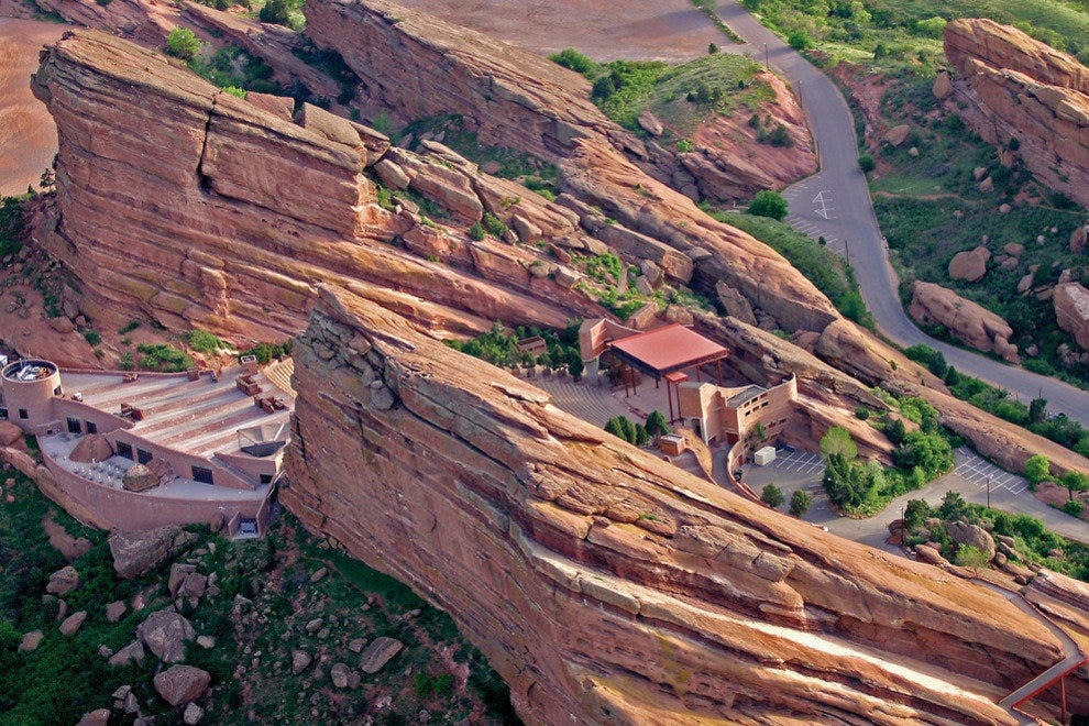 Drama is always onstage at Red Rocks Park, just west of Denver