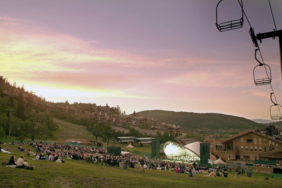 Skiers are replaced with music lovers at Snow Park Outdoor Amphitheater come summertime