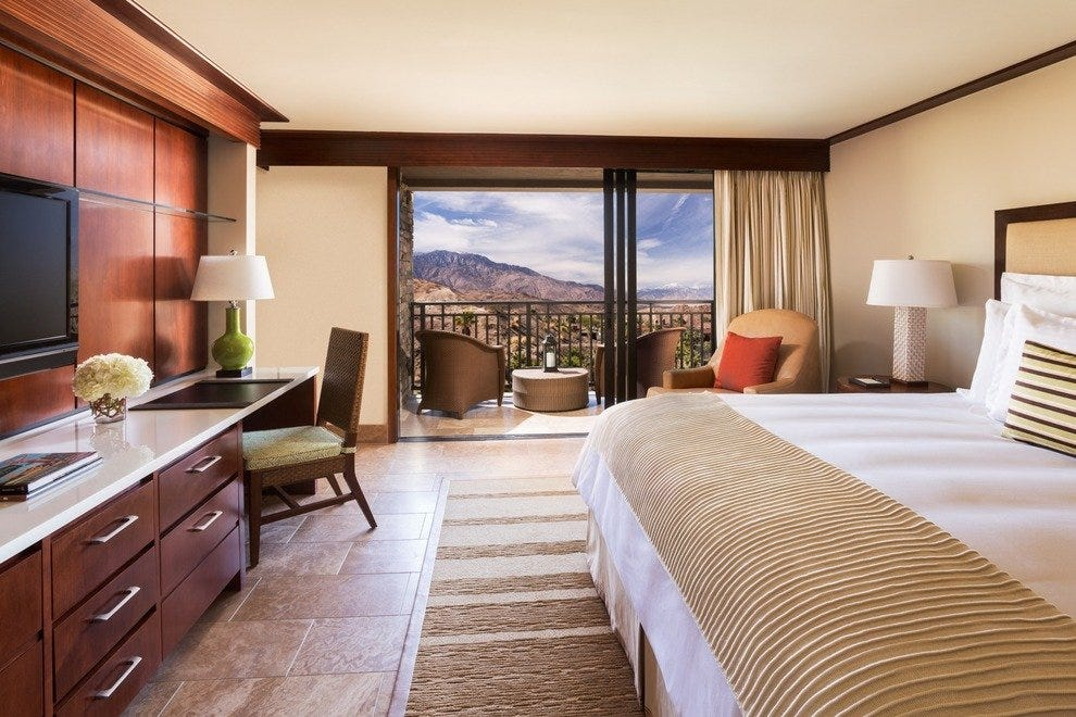 A king room at the Ritz-Carlton Rancho Mirage