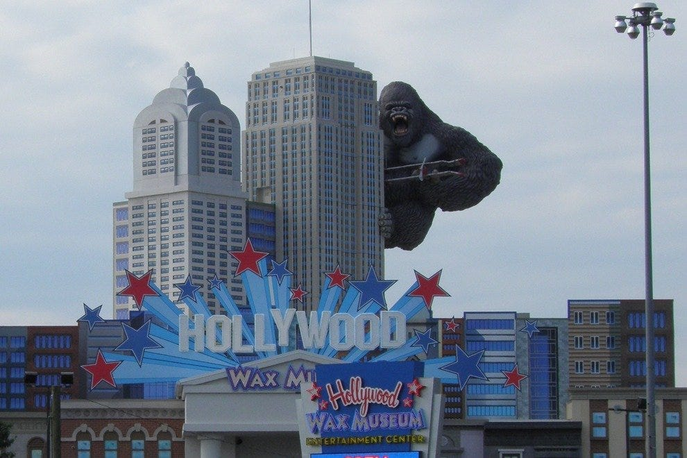 You can't miss the Hollywood Wax Museum in Myrtle Beach, seriously