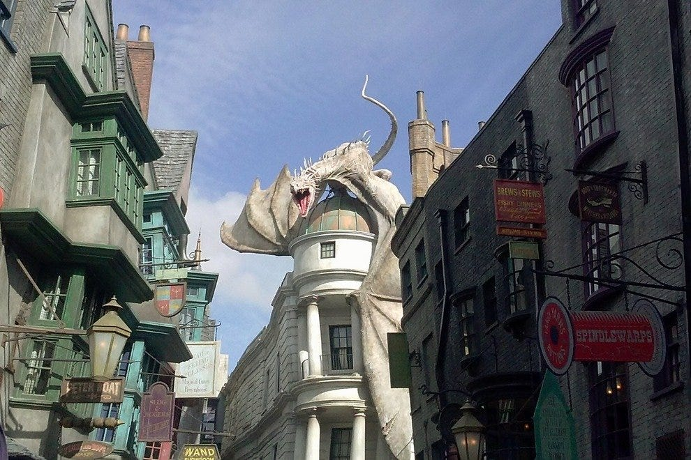 The toothy maw of the Gringott's dragon fires the imagination. Literally.