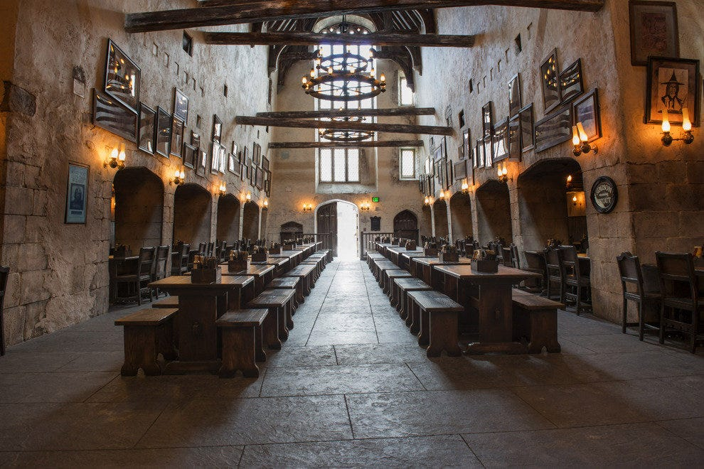 "Alan Gilmore, art director for the Potter films and the Wizarding World believes ""British visitors, particularly Londoners, will really warm to this place,"" which integrates the UK's layers of architectural history. The Leaky Cauldron is great example."