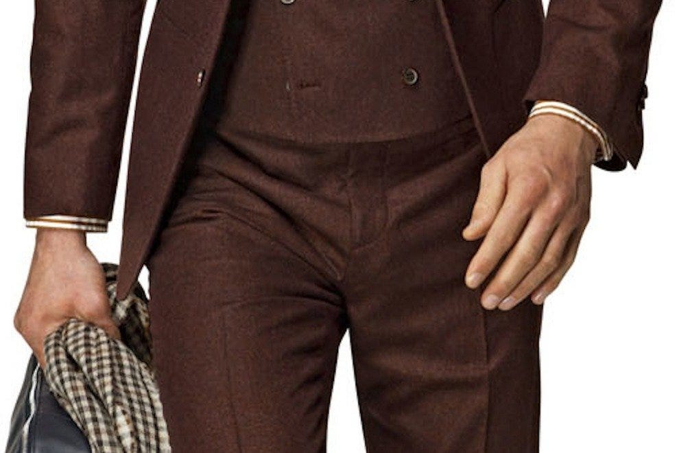 Embrace fall with plummy tones and rich browns found at Suitsupply