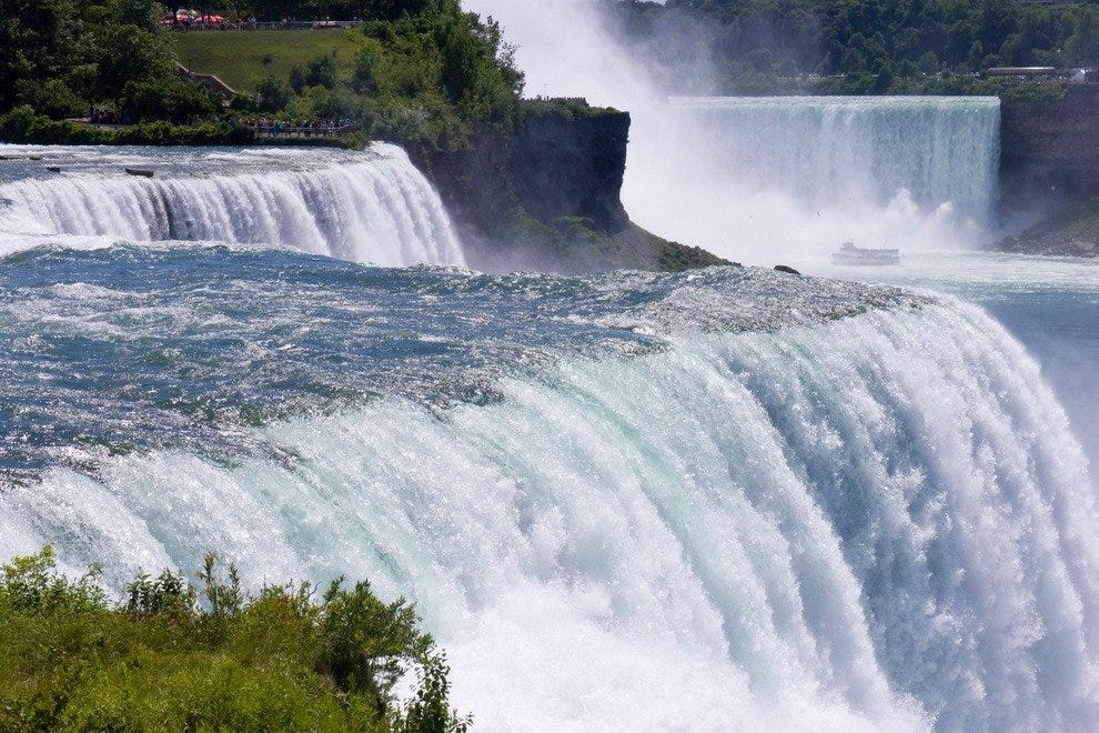 600,000 gallons of water fall right before your eyes at Niagara Falls