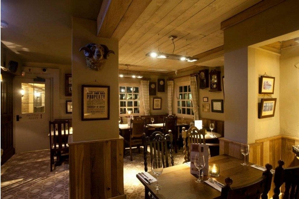 The Sheep Heid Inn's warm and welcoming space