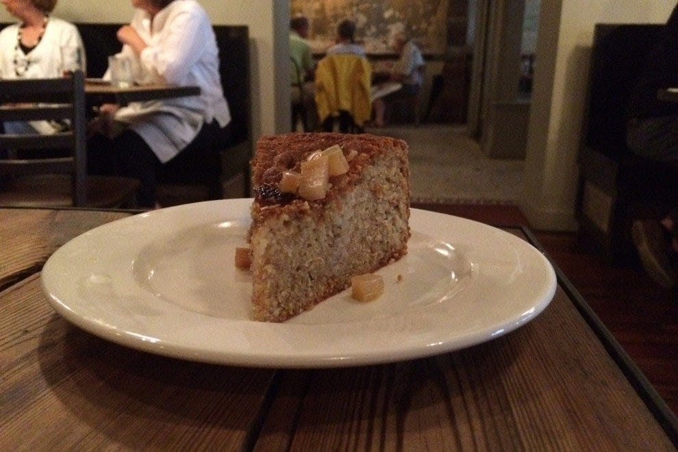 Irish Rhubarb Cake served at a recent Sunday Supper