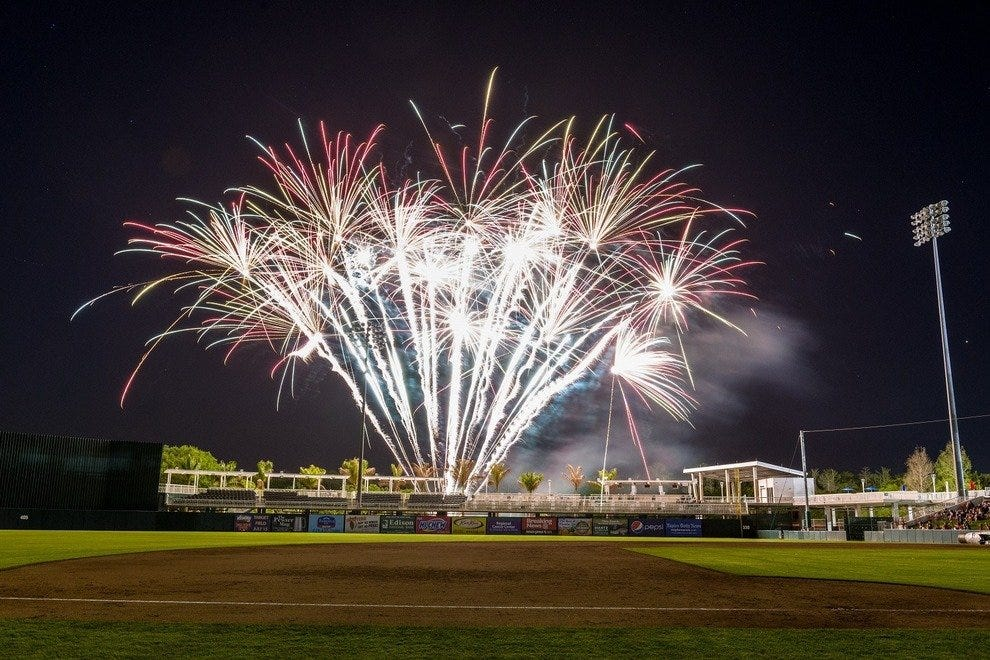 Fireworks wow fans around July 4th and at special events