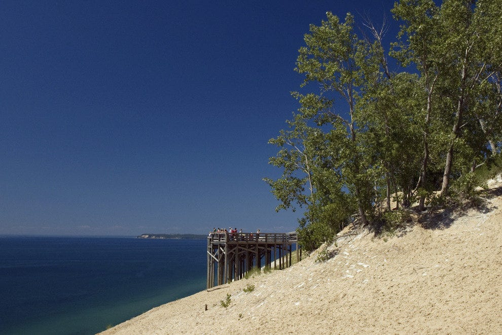 Sleeping Bear Dunes overlook