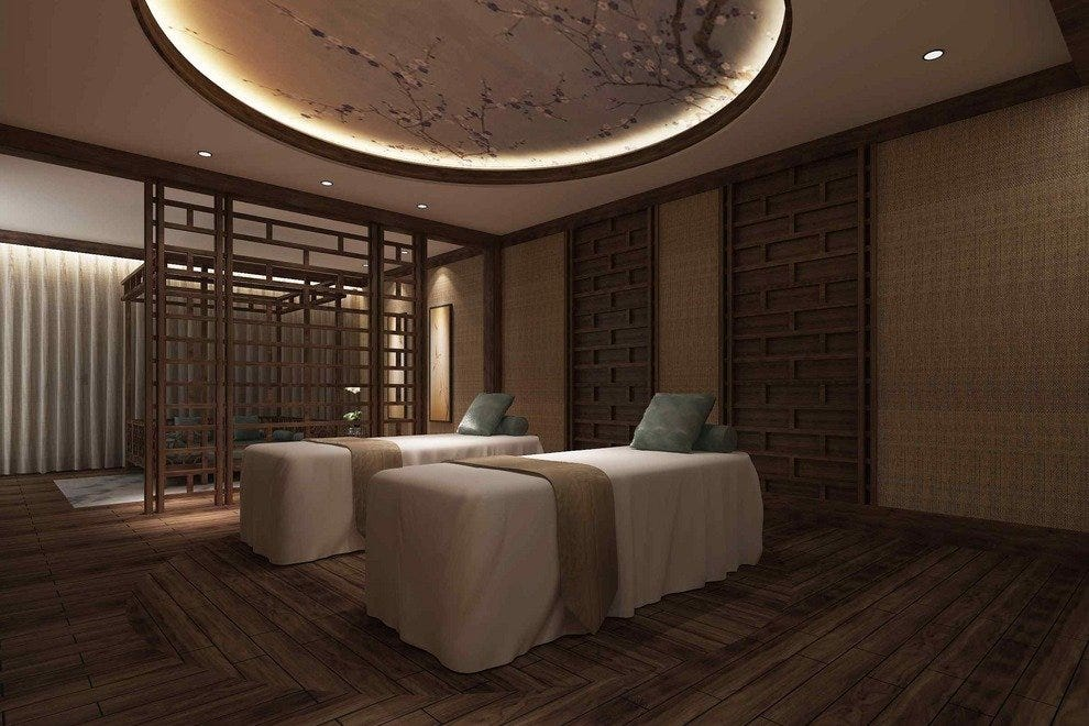 The couple's VIP room at Chuan Spa, where you and your significant other can indulge in special spa treatments together