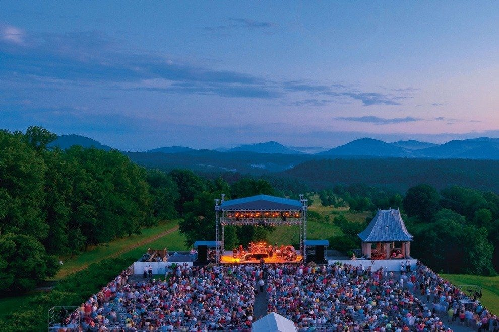 Biltmore Estate's concert site offers some of the best mountain vistas in the area