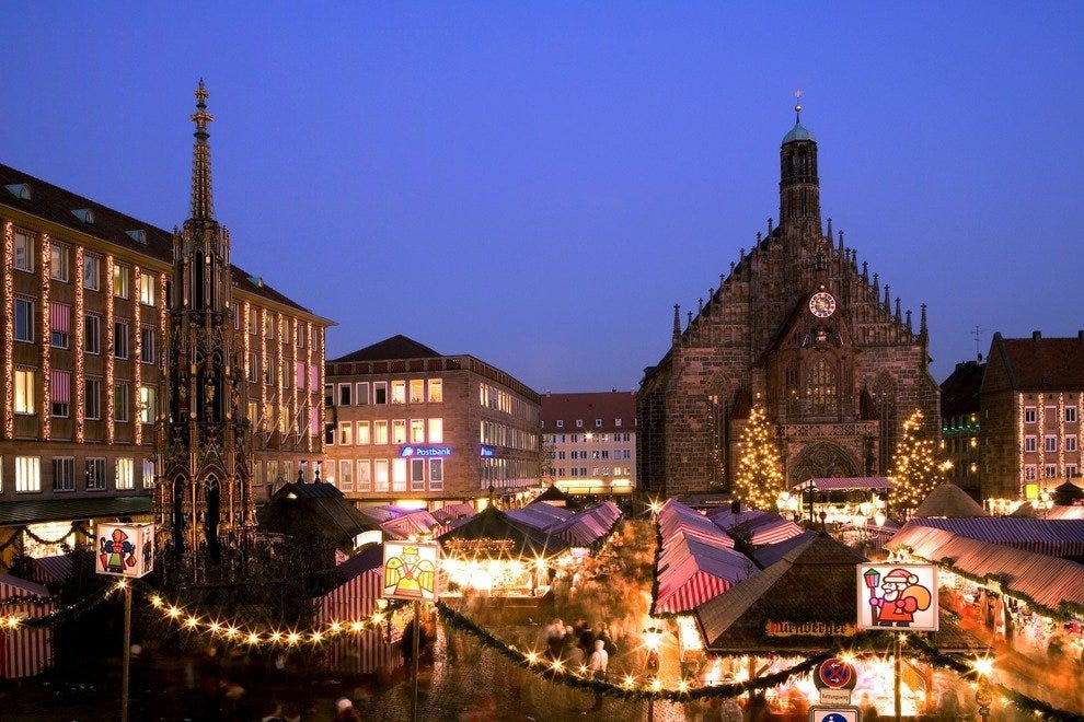 Nuremberg's Christmas Market, one of the largest, fills the town square
