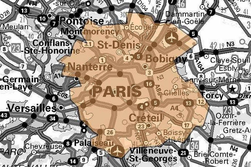 DAB+ transmission reach in Paris and environs