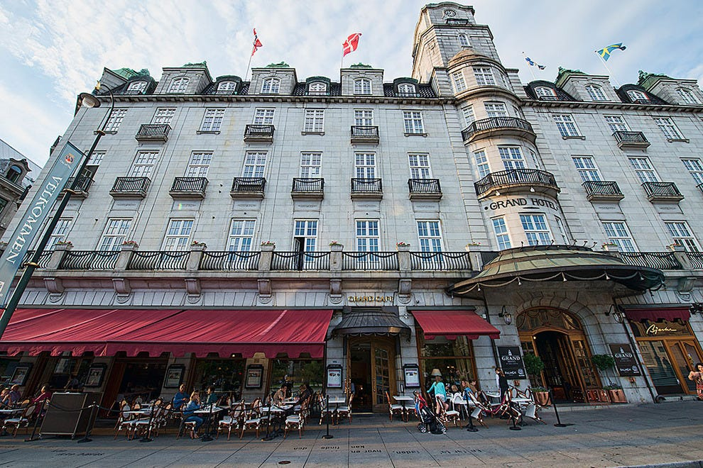 The Grand Hotel and cafe in Oslo