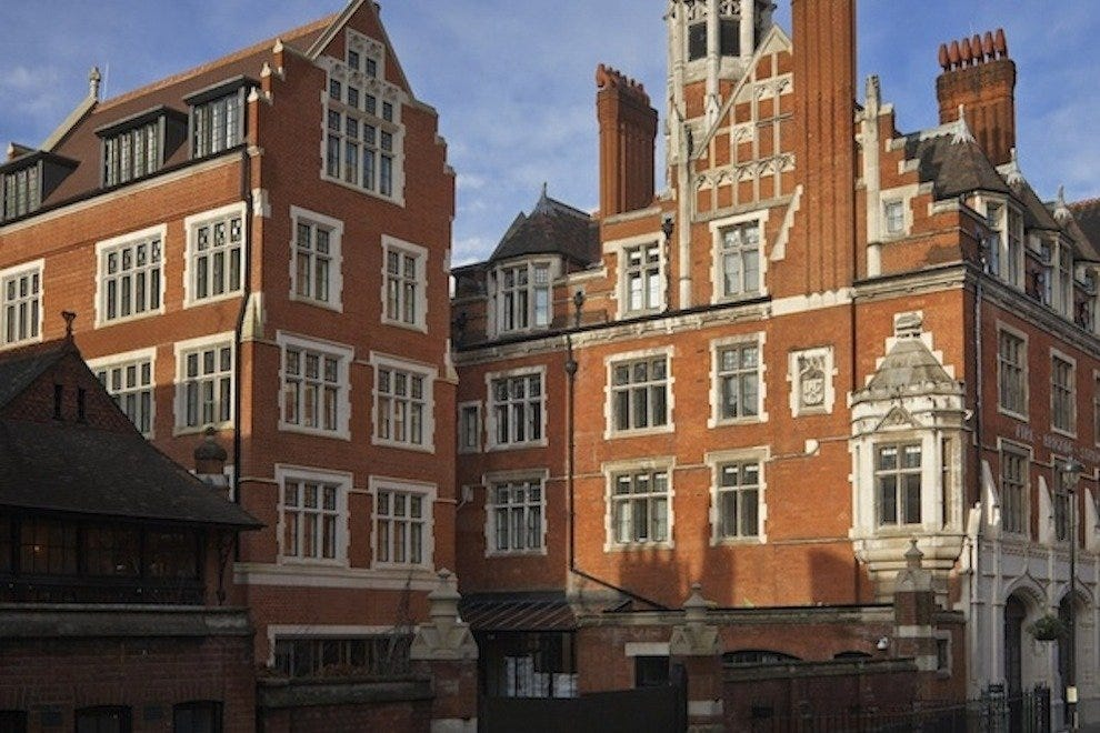 The outside of Chiltern Firehouse restaurant