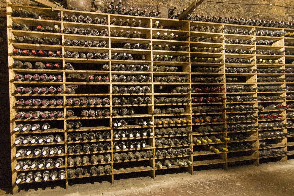 The impressive wine cellar at Spirito di Vino is 160 years older than the Colosseum!