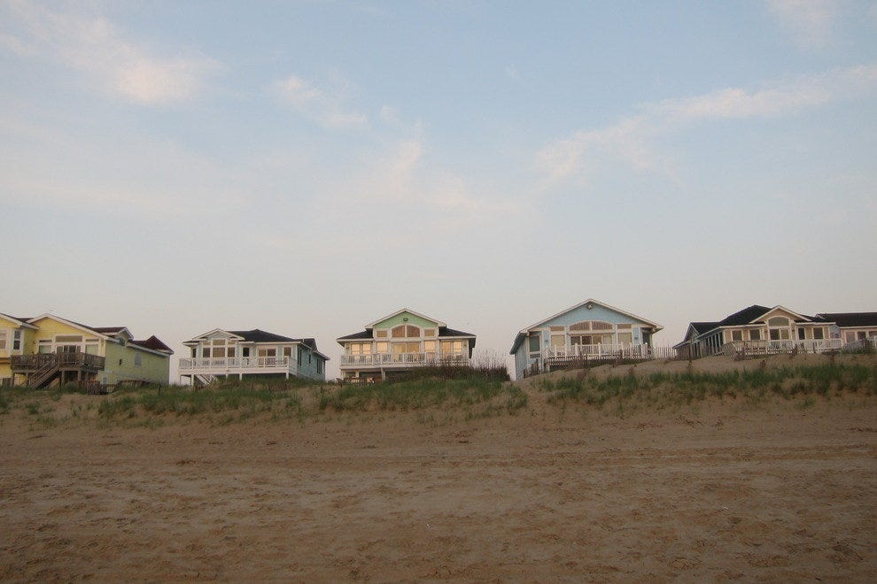 Beach houses are grand in the Outer Banks