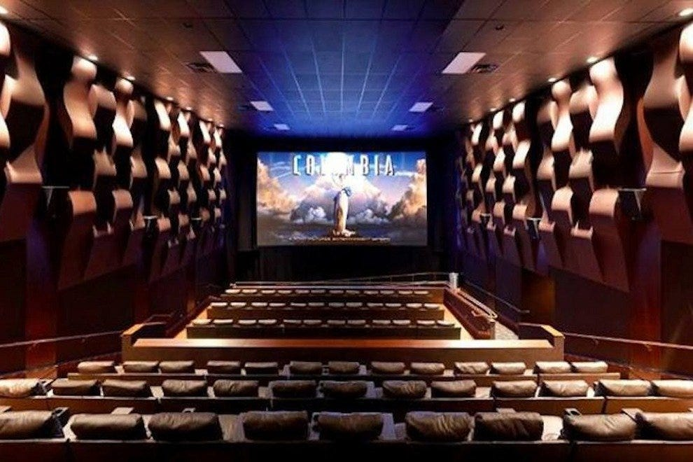 Inside one of Silverspot's luxurious theaters