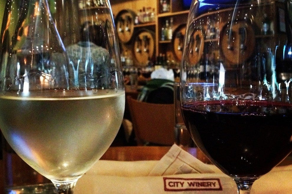 City Winery in Chicago offers 14 wines on tap, directly from its winery