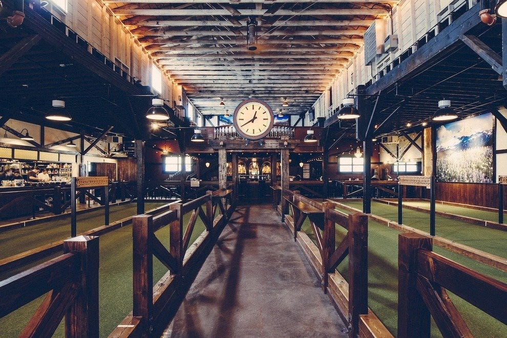 Bocce is the name of the game at this nightlife hot spot