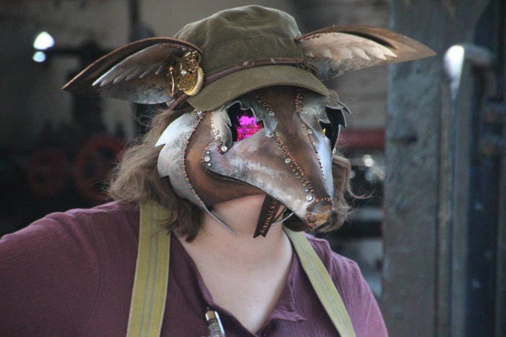 A creative steampunk mask