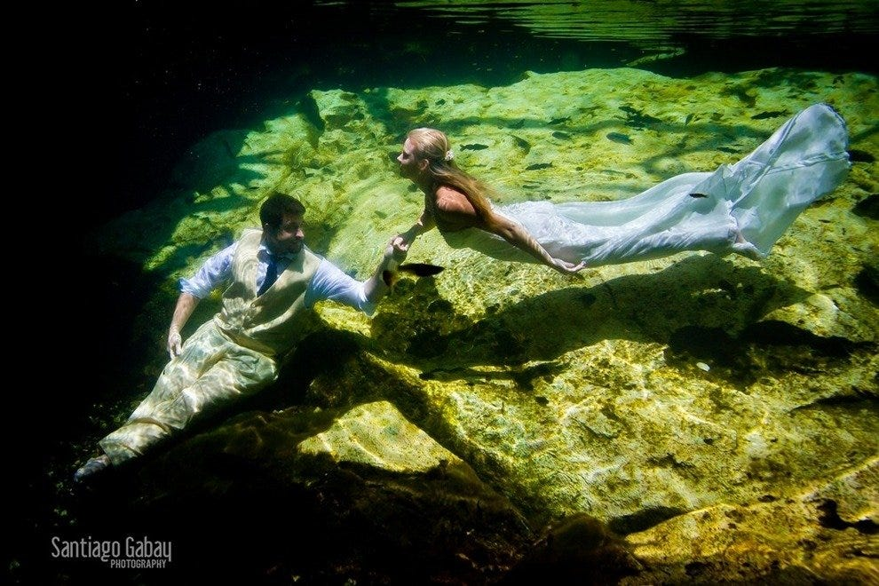 New Destination Wedding Trend: 'Trash The Dress' Photos