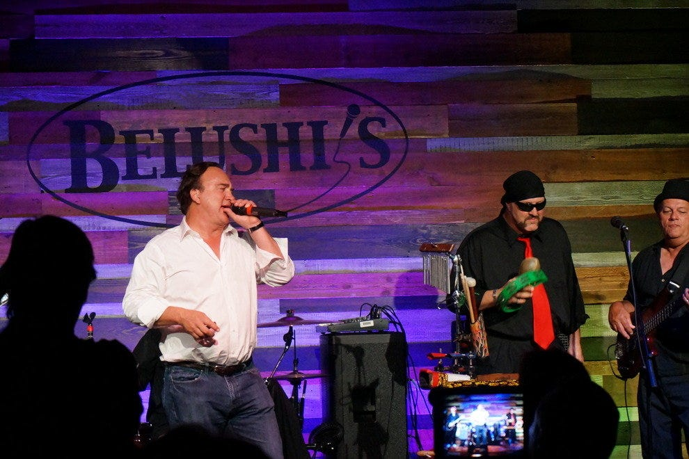 Jim Belushi frequents the stage at his namesake club in Fort Myers