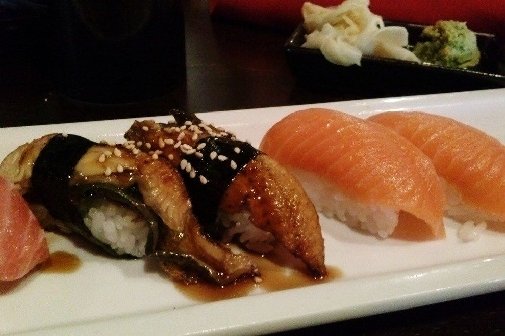 RA Sushi offers a selection of nigiri and sashimi for those less lured by quirky rolls