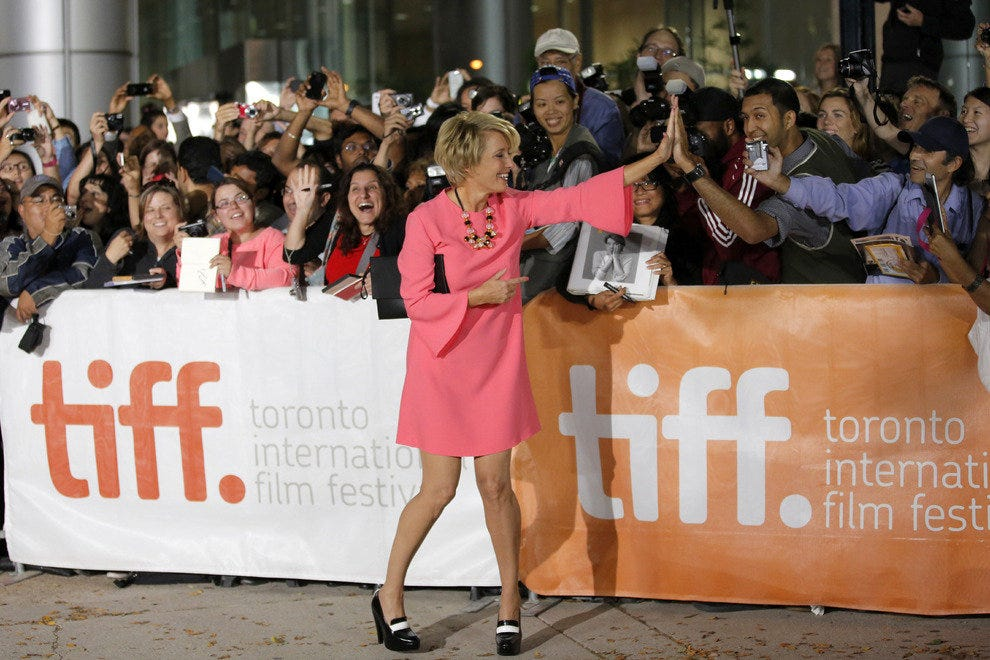 During the Toronto International Film Festival, who knows who you may high-five?