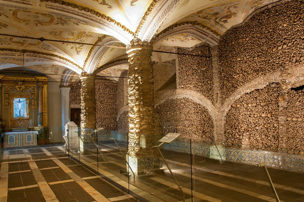 Bone chapel in Evora