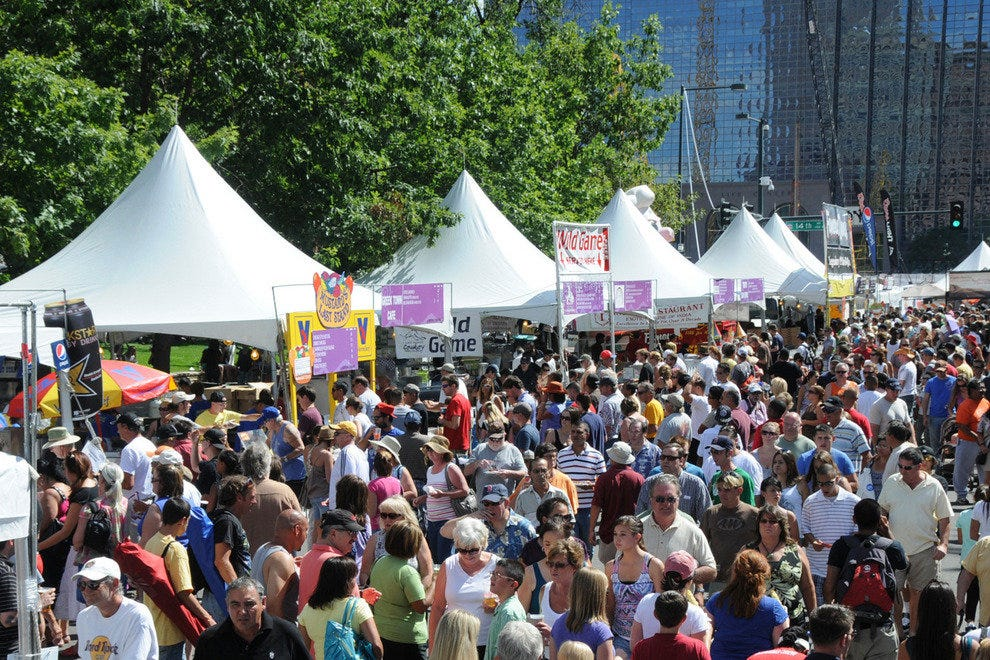 Denver's Civic Center Park is the setting for one of the city's premier annual festivals: A Taste of Colorado