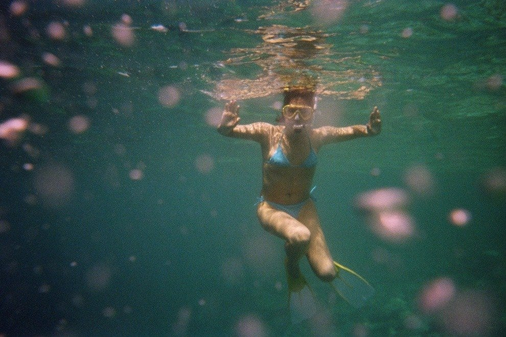 Snorkeling is all the rage at Peanut Island