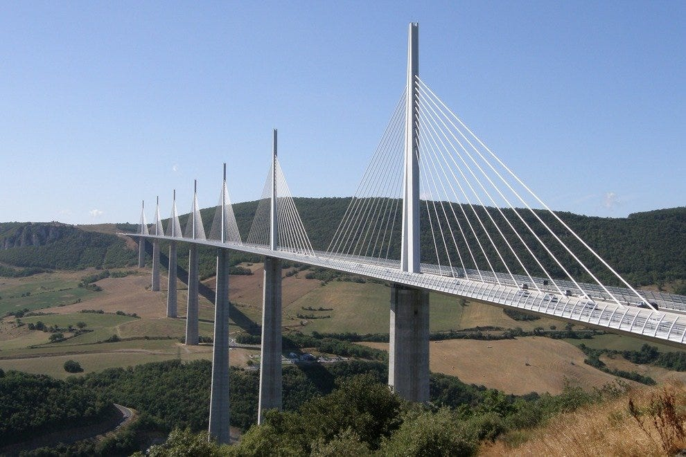 Millau Viaduct Bridge, Midi-Pyrénées, France