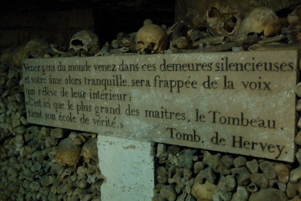 Inside Catacombes de Paris