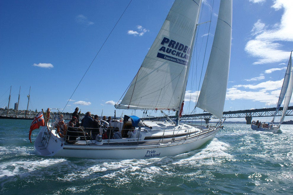 Catch a sailboat ride on the Pride of Auckland.