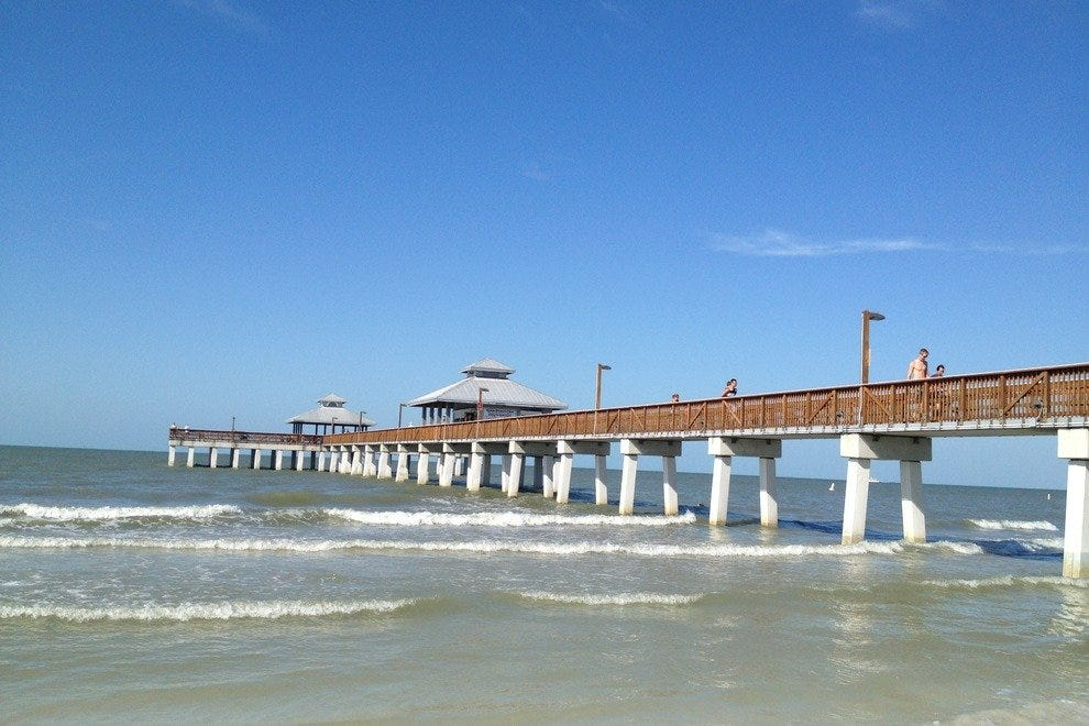 The base of the Fort Myers Beach Pier is the epicenter of activity on Estero Island