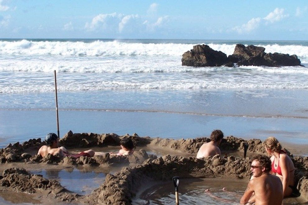 Hot Water Beach has an never-ending supply for do-it-yourself whirlpools.